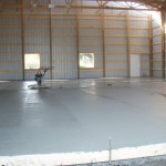 empty warehouse and drying concrete